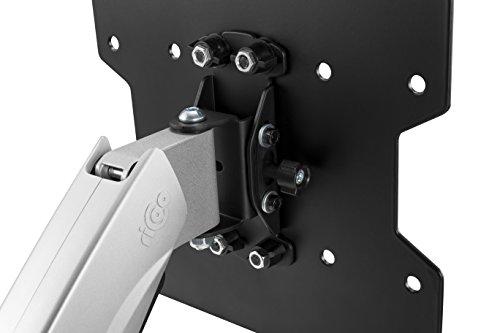 RICOO Wandhalterung TV Schwenkbar Neigbar Monitorhalterung Wand S2622 Höhenverstellbar OLED Fernseher Gasfeder Halterung Curved Bildschirm Wandhalter 43-120cm 17-47 Zoll VESA 200x100 200x200 Silber