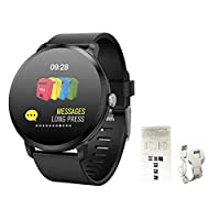 terferein V11 Smart Watch Bracelet with Breathing Light Supports Sports Recording Heart Rate Health Monitoring Screen Brightening by Raising Hand