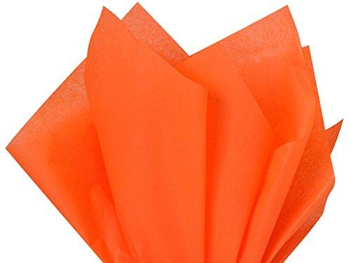 Seidenpapier, 38 x 51 cm, Orange, 100 Blatt