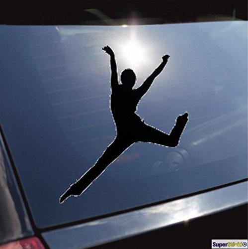 Balletttänzerin tanzen turnen Gymnastik Typ 8 Aufkleber ca. 20 cm Autoaufkleber Tuningaufkleber von SUPERSTICKI® aus Hochleistungsfolie für alle glatten Flächen UV und Waschanlagenfest Tuning Profi Qualität Auto KFZ Scheibe Lack Profi-Qualität Tuning