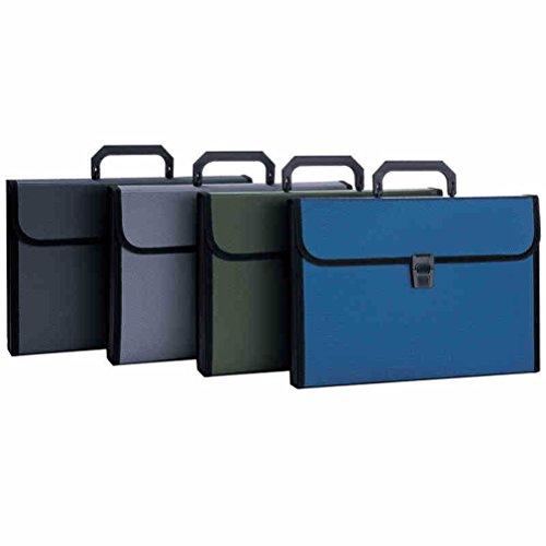 NUOLUX Fächermappe Fächertasche 12 Taschen für Dokumente A4 Papier mit Griff (Griff Mit Papier-tasche)