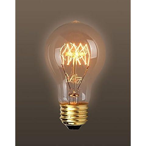 fsliving 6Pack Vintage Edison lampadina A60/A19antico filamento in tungsteno Lampadine