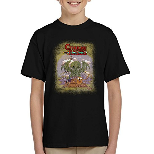 Adventure Time H P Lovecraft Cthulhu Rises Kid's T-Shirt