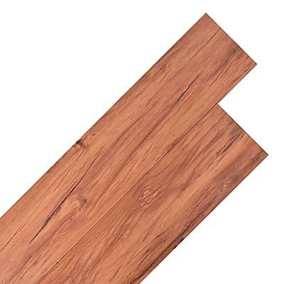 18PCS PVC-Bodenbelägen Planks 5.26M2Warm Braun Wohnzimmer Vinyl Boden Fliesen, selbstklebend Boden Fliesen für Schlafzimmer, Büro von XuzhEU - TapetenShop