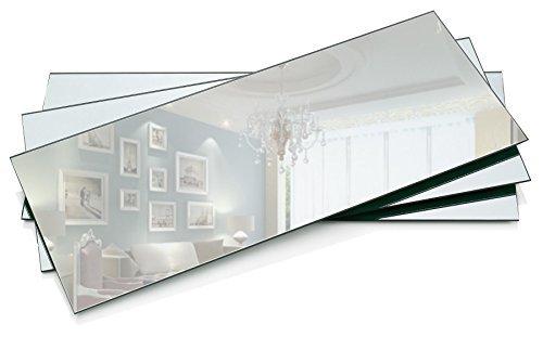 Lumière dans le noir avec miroir rectangulaire de 12,7 x 30,5 cm plaque de bougie avec Round Edge 1,5 mm d'épaisseur Lot de 3