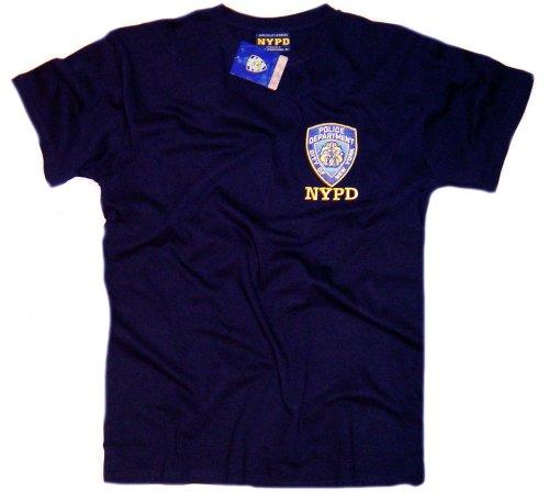 PD-Shirt Marineblau Authentic Kleidung Apparel Offizielles Lizenzprodukt von der New York City Polizei Gr. X-Large, Marineblau ()