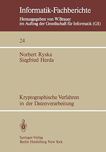 Kryptographische Verfahren in der Datenverarbeitung (Informatik-Fachberichte, Band 24) - Nachricht Bären