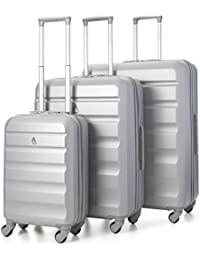 "Aerolite Lightweight 4 Wheel ABS Hard Shell 3 Piece Suitcase Luggage Set (21"" Cabin + 25"" Medium + 29"" Large)"