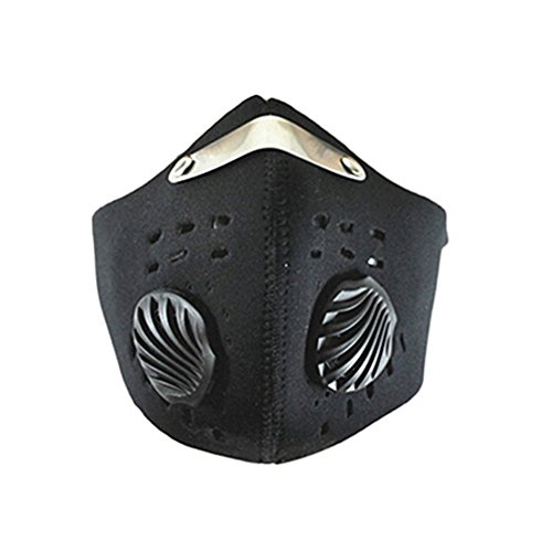 Tangbasi Halbgesichtsmaske zum Schutz vor Staub und Verschmutzungen, für Fahrrad und Motorrad., Schwarz ()