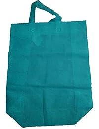 """Krishna Non Woven Box Pack Bag (SIZE: 17"""" X 15"""" X 4""""-Inches) Light Blue, 100 Pcs."""
