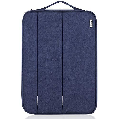 Voova Laptop-Tasche mit Griff, für 12, 13, 15,6 Zoll, Grau Schwarz 15.6 Black Jack-snap