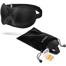 VALNEO Schlafmaske mit flexiblem Gummiband, Samttasche und Ohrstöpseln | für einen tiefen und erholsamen Schlaf | 2 Jahre Zufriedenheitsgarantie | Schlafbrille, Nachtmaske
