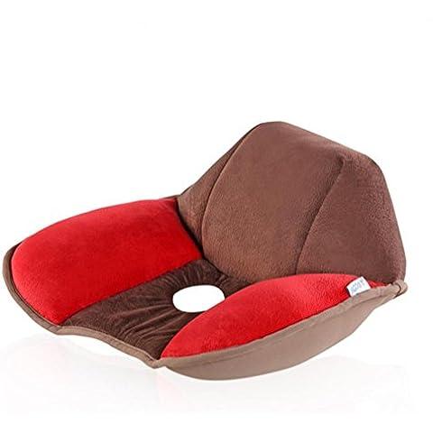 LUN SEAT aliviar el cojín coxis ortopédicos confort almohada silla cojín masaje cojín de asientos de coche oficina hogar inferior, café y
