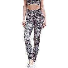 Yvelands Mujeres Liquidación Impreso Yoga Fitness Leggings Running Gym Stretch Pantalones Deportivos Pantalones