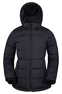 Mountain Warehouse Seasons Womens Padded Jacket - Water Resistant Ladies Coat, Front Pockets, Adjustable Elastic Cuffs & Hood - for Holidays in Cold Weather