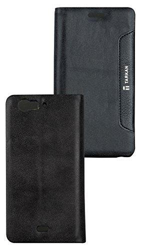 Tarkan Authentic Smart PU Leather Magnetic Flip Case Cover with Convertible Back Stand For Micromax Canvas Turbo A250 - Black  available at amazon for Rs.299