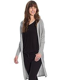 Balsamik - Gilet long, stature entre 1,53 et 1,60m - femme - Taille : 54/56 - Couleur : Gris chine