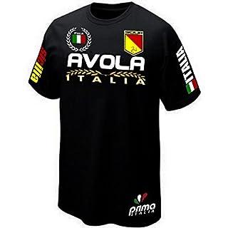 T-Shirt Avola Sicilia Sicily Italia Italy–Prima Italia® -  black - Large