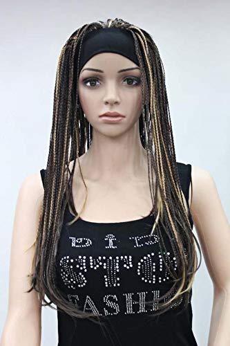 irekt mit Kopfbedeckung Persönlichkeit Reggae realistische Bühnenperformance Afrikanischer Dreadlock, mittelbraun ()