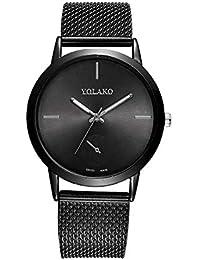 2019 Relojes Mujer, Reloj De Malla De Malla De Alta Dureza De Vidrio para Hombres