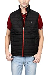 Peter England Mens Jacket (EOW51500482Ssleeveless_Blacksolid)