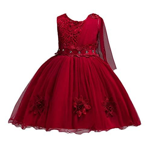 Beikoard Mädchen Baby Kleid Netzkleid Formales Kleid Festzug Geburtstag Party Kleid Print Weihnachtskleid Cocktailkleid Partyskleid Fotografie Maxi Kleid