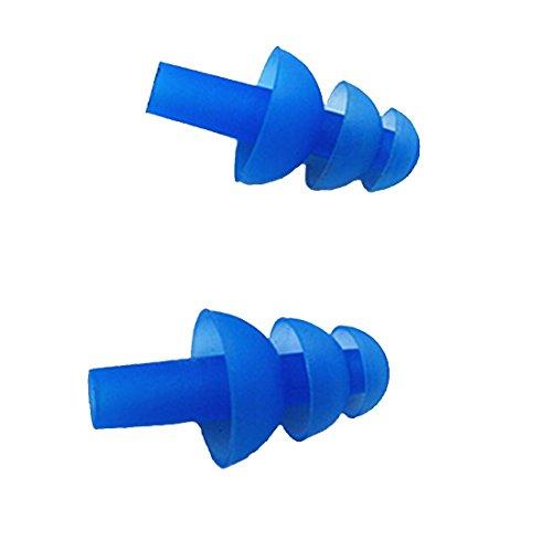 Richera Silikon Ohrstöpsel Schwimmer - 5 PAARE (10PCS) Weiche und flexible Ohrstöpsel zum Schwimmen oder Schlafen mit Ohrstöpsel