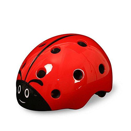 HuanLeBao Kindersicherheit Niedliche Marienkäfer Helm Demolition Fahrradhelm Mount Helm Guard Fahrradzubehör , (Schuhe Kind Marienkäfer)