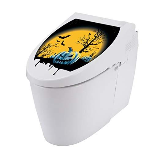 VEMOW Halloween Party Dekoration Toilettensitz Wandaufkleber Abziehbilder Vinyl Art Tapete Abnehmbare Decor 33X28cm(Mehrfarbig, 33X28cm)