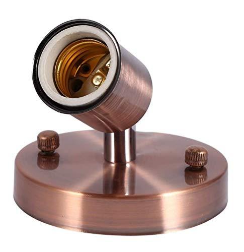 E27Moderne Deckenleuchte für verstellbar Gestell Wand flexiblem Support-Licht mit 180Grad, Pack 1 Rouge Bronze -