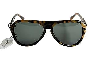SOVER MCK011 Unisexe lunettes de soleil tortue noir or cadre en plastique noir lentille UV haute Protection antireflet CAT 3 habBPG