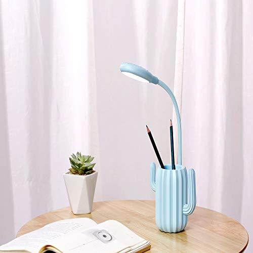 Lampada da tavolo per ricarica di cactus USB touch LED protezione per gli occhi luce notturna lampada da lettura pieghevole penna blu 120 * 125 * 340mm