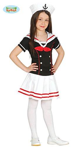 Guirca Matrosin Kostüm für Mädchen Matrosenkleid Mädchenkostüm Sailor -