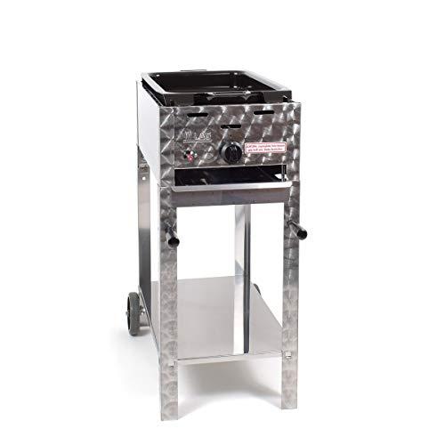 LAG Gasbräter 3,65 kW fahrbar mit emaillierter Stahlpfanne 1-flammig Gasgrill Grill Gastrobräter Profigrill Verein