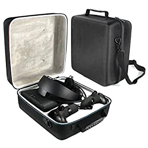 Ritapreaty Hard Carry Case für Oculus Rift S PC-betriebenes VR-Gaming-Headset und Controller-Zubehör Tragbare Schutztasche Aufbewahrungstasche für unterwegs