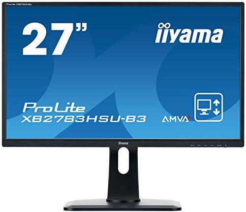 "Iiyama iiyama ProLite XB2783HSU-B3 68,6cm (27"") AMVA+ LED-Monitor Full-HD (VGA, HDMI, DisplayPort, USB2.0, Höhenverstellung, Pivot) schwarz"