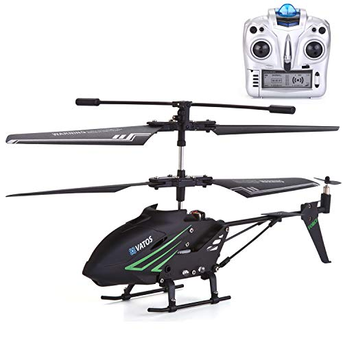 VATOS RC Helicopter Remote Control Helicopter Indoor with Gyro and LED Light 3.5HZ Channel Alloy Mini Helicopter Remote Control for Kids & Adult Micro RC Helicopter Best Helicopter Toy Gift