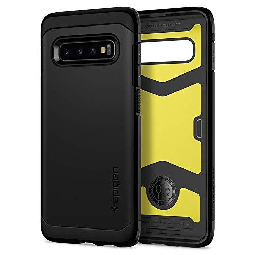 Spigen 606CS26083 Tough Armor XP für Samsung Galaxy S10 PLUS Hülle, Doppelte Schutzschicht Handyhülle für Extrem Fallschutz Schutzhülle Case Schwarz