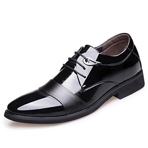 pelle scarpe in autunno/Britannico business aumento scarpe-A Lunghezza piede=23.3CM(9.2Inch)