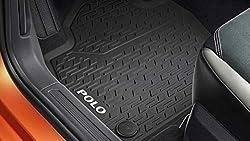 Volkswagen 2G1061502 82V Polo Original Gummi/Allwettermatten Vorn, Titanschwarz