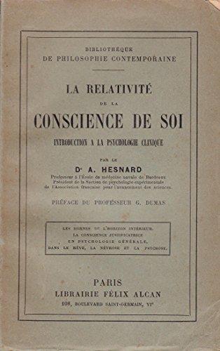 La relativité de la conscience de soi - Introduction à la psychologie clinique