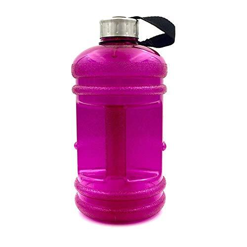 szdc88 Wasser Flaschen 1 Stück 2,2 L Große Kapazität Outdoor Sport Halbe Gallone Fitnesstraining Camping Laufen Wasser Tasse (Rot) - Rose rot