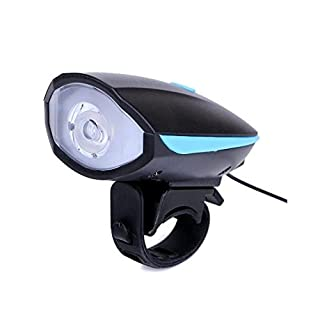 Aogolouk 2 in 1 Bike Bell with LED Light Super Bright Bicycle Headlight (Blue)