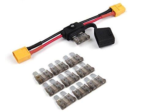 Preisvergleich Produktbild OrangeRX Boom Stopper mit 2A Sicherung & XT60Stecker für RC Drone–Flugzeug–Heli–Auto Buggy Elektrische Testen