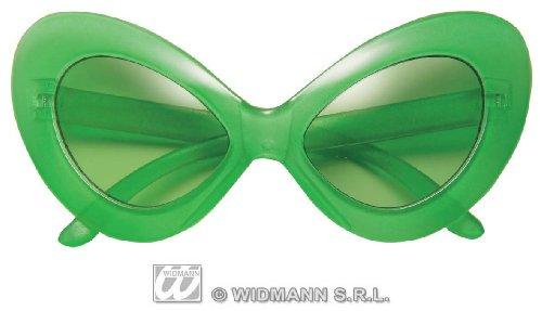 Widmann 6712A, Alien Brille in grün - auch neongrün-leuchtend im Dunklen (phosphorisierendes...