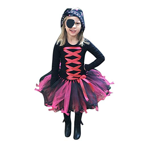 Gruselige Kostüm Minute Last - Writtian Mädchen Infant Kleinkind Baby Mädchen Halloween Kürbis Bogen Party Clubbing Hause Cosplay Cute Fashion Kleid Cartoon Individualitä SchädelLangarm Kleidung Prinzessin Rock Kleider