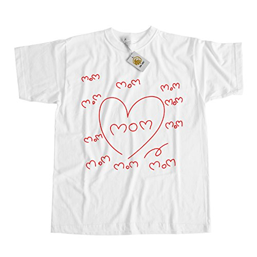I Love My Mom Shirt Mothers Day Tshirt Mother Day Gift Best Mothers Shirt Grau
