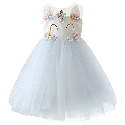 Kinder Kleinkind Mädchen Einhorn Prinzessin Cosplay Kleid ärmellose Tüll Tutu Kleid Hochzeit...