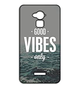 Happoz Good Vibes design Coolpad Note 3 Lite accessories Mobile Phone Back Panel Printed Fancy Pouches Accessories Z228