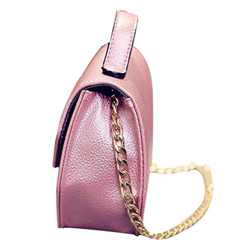 a824591f952e0 ... JOTHIN Mode Schultertasche mit Henkel Handtasche Kette für Damen Klein  Dunkelpink ...